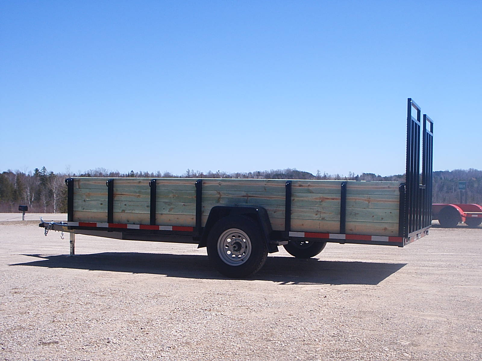 14' with four board high wood sides