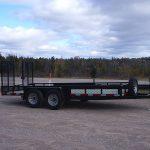 16' x 82 inch car hauler flip down ramps two 3500 axles